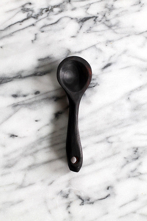 Small Charred Serving Scoop