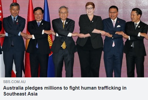Australia pledges A$80 million to fight human trafficking in Southeast Asia