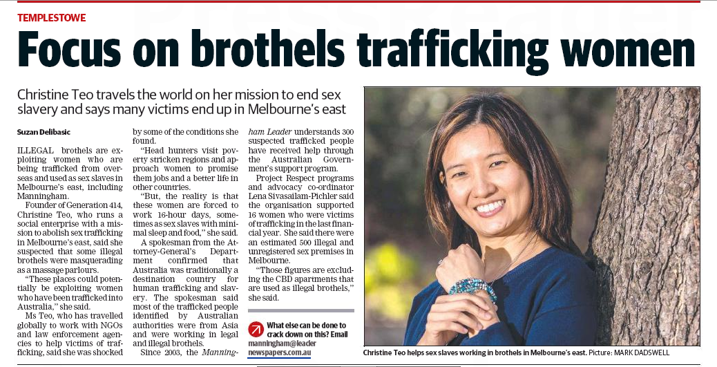Focus on brothels trafficking women - Manningham Leader