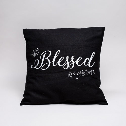 """Blessed"" 100% Cotton Cushion Cover"
