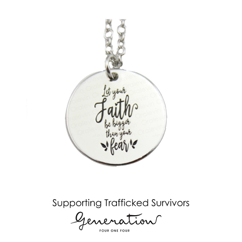 Faith bigger than Fear Necklace