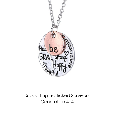 Be Brave, Strong, Happy Necklace