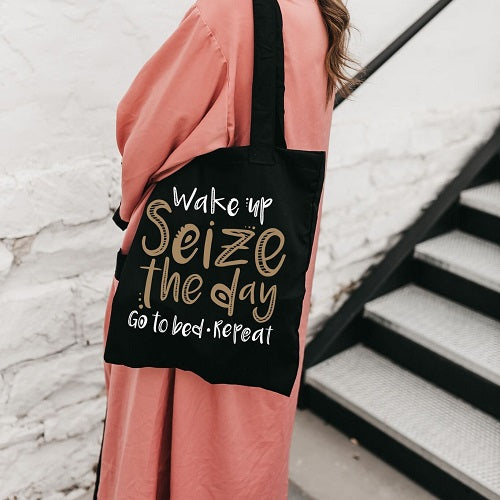 """Wake Up"" Tote Bag"