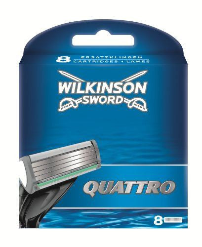 Wilkinson Sword Quattro Razor Cartridges x 8