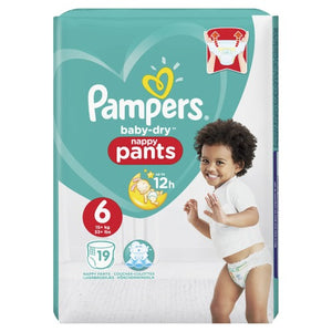 Pampers Baby-Dry Pants Size 6 Carry Pack | 19 Nappies