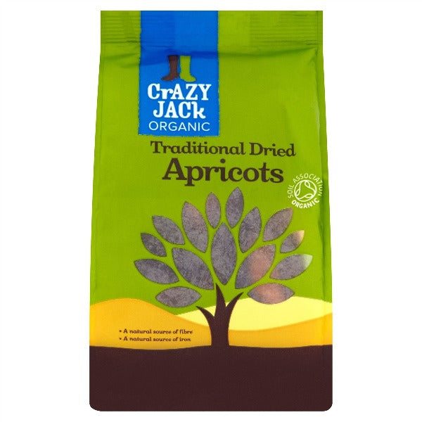 Crazy Jack Organic Traditional Dried Apricots 250g