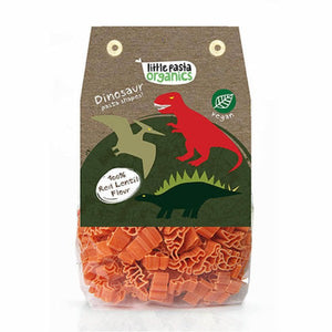Little Pasta Organics Red Lentil Dinosaur Shaped Pasta 250g