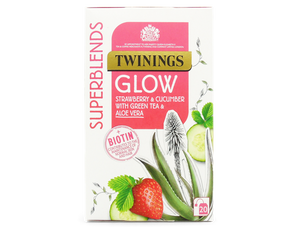 Twinings Glow Tea | Strawberry & Cucumber with Green Tea & Aloe Vera