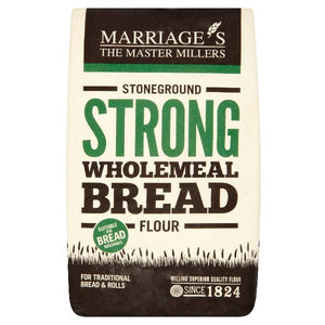 Marriage's The Master Millers Stoneground Strong Wholemeal Bread Flour 1.5kg