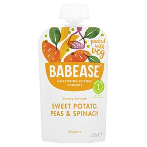 Babease Sweet Potato Peas & Spinach 100g