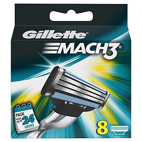 Gillette Mach 3 Cartridges 8 Pieces