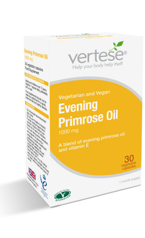 Vertese Evening Primrose Oil Supplements | 30 Capsules