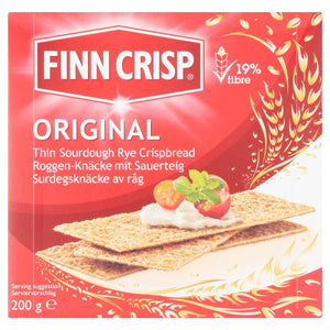 Finn Crisp Original Thin Sourdough Rye Crispbread 200g