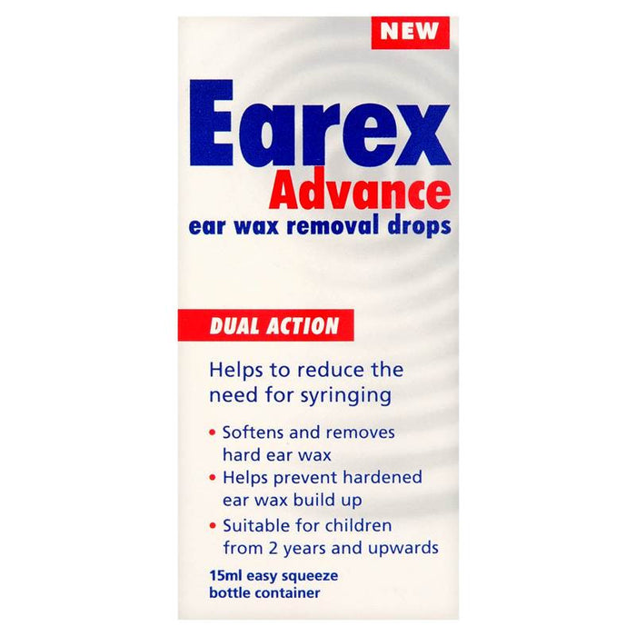 Earex Advance Ear Wax Removal Drops 15ml