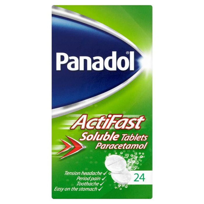 Panadol ActiFast Soluble Tablets Paracetamol 24 Tablets