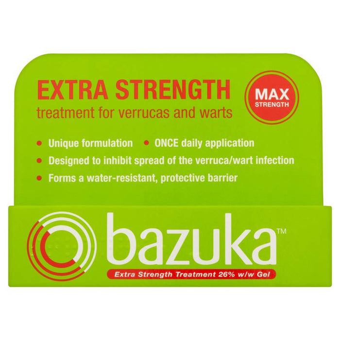 Bazuka Extra Strength Treatment for Verrucas and Warts 6g