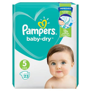Pampers Baby Dry Nappies Size 5  | 23 Pack