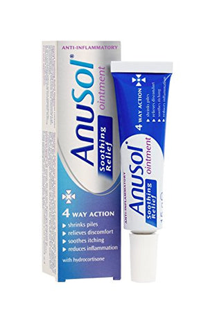Best Price on Anusol - Soothing Relief Ointment - Shrinks piles, relieves discomfort, Soothes Itching & Reduces inflammation - 15g