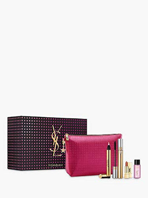 YSL Yves Saint Laurent Icons Makeup Gift Set with FULL SIZE Touche clat N1 & Mascara Volume Effet Faux Cils