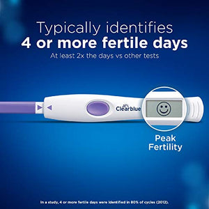 Clearblue Digital Ovulation Test Kit Advanced The Only Test To Track 2 Fertility Hormones, 1 Digital Holder and 10 Tests