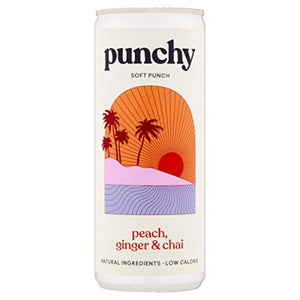 Punchy Soft Punch Holiday Romance 250ml | Peach, Ginger & Chai
