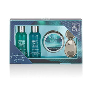 Style & Grace Skin Expert Mini Grooming Gift Set 80ml Shower Gel + 80ml Shampoo + 60ml Aftershave Balm + Keyring