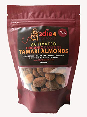 2Die4 Organic Activated Cayenne Tamari Almonds 100g