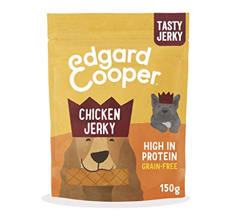 Edgard and Cooper Chicken Jerky with Apple & Blueberry for Dogs 150g