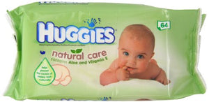Best Price on HUGGIES Natural Care Aloe Vera Baby Wipes No Alcohol 64 Sheets 64WIPES
