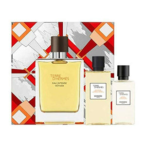 Brand new Hermes Terre d'Hermes Eau Intense Vetiver Gift Set 100ml EDP + 80ml Shower Gel + 40ml Aftershave Lotion