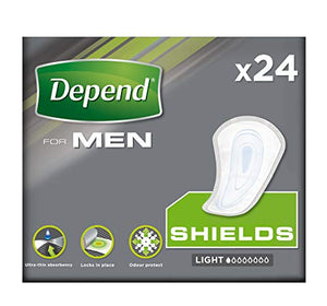 Best Price on Depend Shields for Men, Light Absorbency Incontinence Protection, 24 Pads