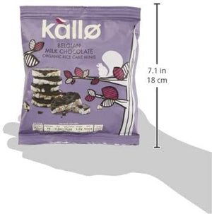 Kallo Belgian Milk Chocolate Organic Rice Cake Minis 40g