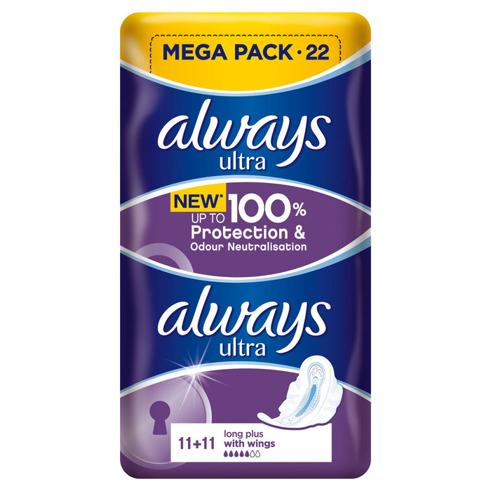 Always Ultra Pads Long Plus 22 count