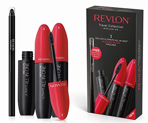 Revlon Ultimate All In One Mascara Gift Set 3 x 8.5ml Mascara + Colorstay Eyeliner Black