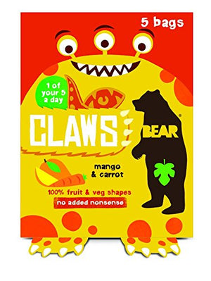 Bear Claws Mango Carrot Multipack 5x18g