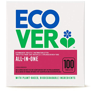 Ecover All In One Dishwasher Tablets Lemon & Mandarin 100 Tablets