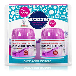 Ecozone Forever Flush 2000 - Purple Twin Pack 2caps