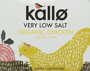 Kallo Foods Organic Chicken Very Low Salt Stock Cube 6x11g