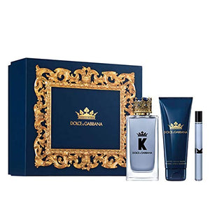 Dolce & Gabbana K Eau de Toilette 3 Piece Gift Set: Eau De Toilette 100ml - Aftershave Balm 75ml - Eau De Toilette 10ml