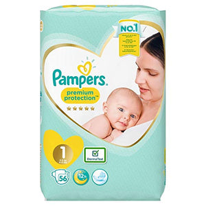 Pampers Premium Protection Nappies Size 1 | 56 Pack