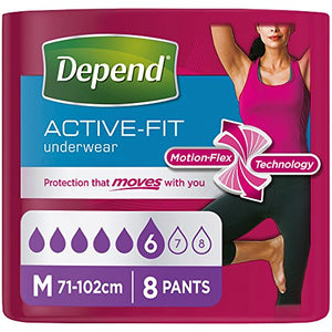 Best Price on Depend Active-Fit Incontinence Pants for Women, Medium - 8 Pants