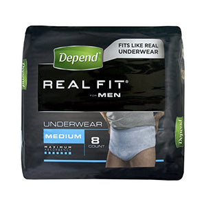 Best Price on Depend Active-Fit Incontinence Pants for Men, Medium - 8 Pants