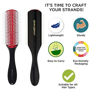 Denman Original Styler Brush D4 - 9 Row