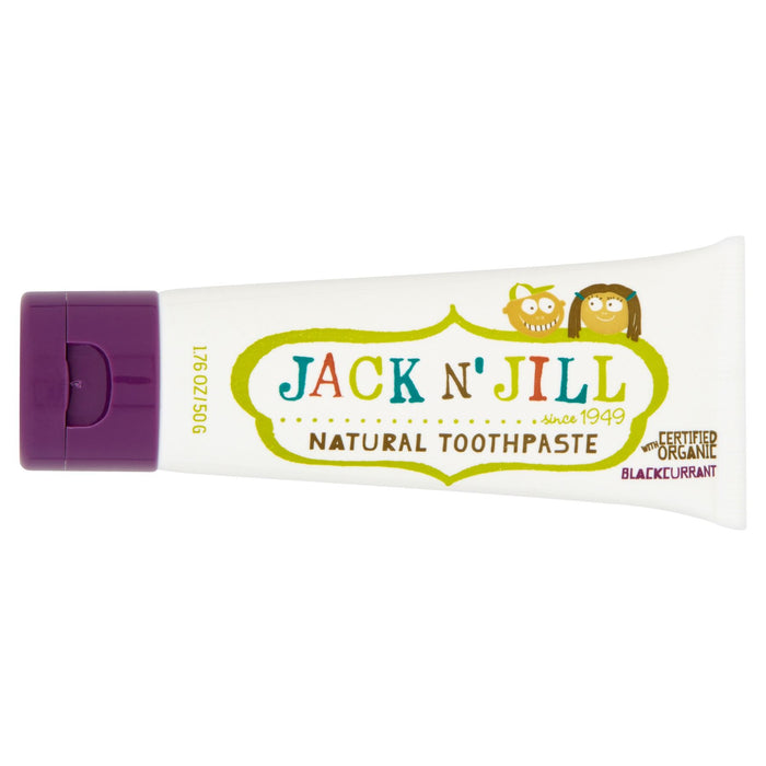 Jack n' Jill Natural Toothpaste with Certified Organic Blackcurrant 50g