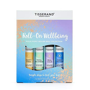 Tisserand Aromatherapy Roll-on Wellbeing Collection 4x 10ml
