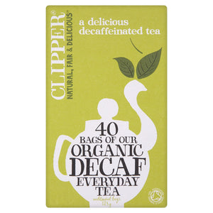 Clipper Organic Decaf Everyday 40 Tea Bags 125g