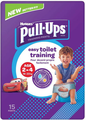 Huggies Pull Ups Day Time Potty Training Pants Boys 2-4 Years (18-23kg) 15 Pants