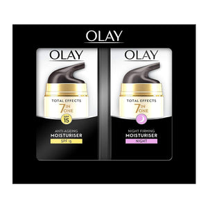 Olay Total Effects Anti-Ageing Moisturiser Day & Night Cream Duo Pack 37ml