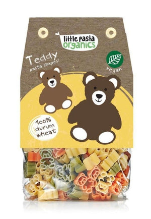 Little Pasta Organics Spinach & Tomato Teddy Bear Shaped Pasta 250g