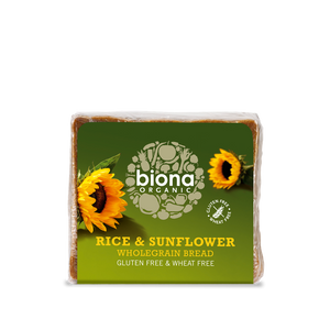Biona Organic Rice & Sunflower Wholegrain Bread 500g